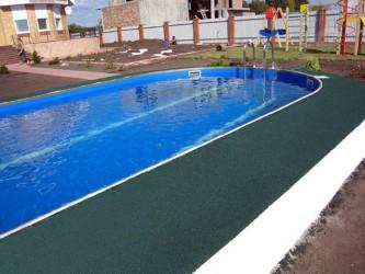 Резиновые покрытия у бассейна (WATER)
